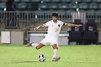 CARY, NC - AUGUST 01: Eli Crognale #12 plays the ball during a game between Birmingham Legion FC and North Carolina FC at Sahlen's Stadium at WakeMed Soccer Park on August 01, 2020 in Cary, North Carolina.