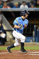 Charlotte Stone Crabs catcher Maxx Tissenbaum (19) during a game against the Bradenton Marauders on April 4, 2014 at Charlotte Sports Park in Port Charlotte, Florida.  Bradenton defeated Charlotte 9-1.  (Mike Janes/Four Seam Images)