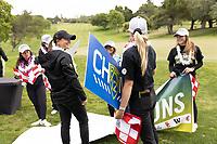 STANFORD, CA - APRIL 25: Alyaa Abdulghany, Katie Woodruff, Brianna Navarrosa, Amelia Garvey, Malia Nam at Stanford Golf Course on April 25, 2021 in Stanford, California.