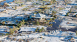 MEXICO BEACH, FL - OCTOBER 12: The homes and businesses along US 98 were leveled by Hurricane Michael on October 12, 2018 in Mexico Beach, Florida. (Photo by Mark Wallheiser/Getty Images)