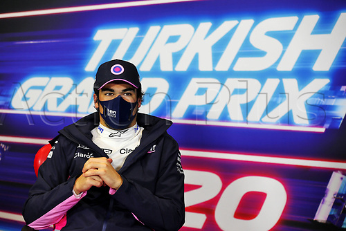 14th November 2020; Istanbul Park, Istanbul, Turkey; FIA Formula One World Championship 2020, Grand Prix of Turkey, qualifying; 18 Lance Stroll CAN, BWT Racing Point F1 Team takes pole