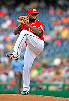24 May 2009: Washington Nationals' starting pitcher Shairon Martis on the mound against the Baltimore Orioles at Nationals Park in Washington, DC. The Nationals rallied to defeat the Orioles 8-5 and salvage one win of their interleague series. Mandatory Credit: Ed Wolfstein Photo