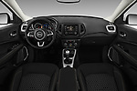 Stock photo of straight dashboard view of a 2017 Jeep Compass Sport 2wd 5 Door SUV