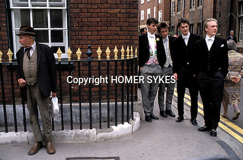 Eton college school, near nr Windsor Berkshire. England Boy wearing Eton Society know as Pop, and wearing a traditional colorful Pop Waistcoat.