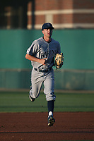 Ryan Johnston (10) of the UC Irvine Anteaters during a game against the Southern California Trojans at Dedeaux Field on April 18, 2017 in Los Angeles, California. UC Irvine defeated Southern California, 14-3. (Larry Goren/Four Seam Images)