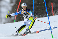 20th February 2021; Cortina d'Ampezzo, Italy; FIS Alpine World Ski Championships, Women's Slalom ;  Nina O-Brien (USA)