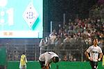 09.08.2019, BWT-Stadion am Hardtwald, Sandhausen, GER, DFB Pokal, 1. Runde, SV Sandhausen vs. Borussia Moenchengladbach, <br /><br />DFL REGULATIONS PROHIBIT ANY USE OF PHOTOGRAPHS AS IMAGE SEQUENCES AND/OR QUASI-VIDEO.<br /><br />im Bild: Erik Zenga (#17, SV Sandhausen) und Leart Paqarada (#19, SV Sandhausen)<br /><br />Foto © nordphoto / Fabisch