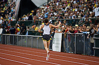 EUGENE, OR--Craig Mottram takes a victory lap after winning the mens 2 mile during the Steve Prefontaine Classic, Hayward Field, Eugene, OR. SUNDAY, JUNE 10, 2007. PHOTO © 2007 DON FERIA