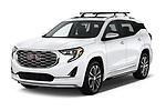 2018 GMC Terrain Denali base 5 Door SUV angular front stock photos of front three quarter view