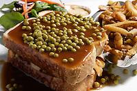 Montreal QC CANADA - 2008 file Photo -Hot chicken sandwiche..