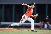 Aberdeen IronBirds pitcher Josh Walker (19) delivers a pitch during a game against the Williamsport Crosscutters on August 4, 2014 at Bowman Field in Williamsport, Pennsylvania.  Aberdeen defeated Williamsport 6-3.  (Mike Janes/Four Seam Images)