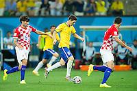 Oscar of Brazil scores a goal to make it 3-1