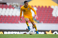 GUADALAJARA, MEXICO - MARCH 18: David Ochoa #20 of the United States looks for an open man downfield during a game between Costa Rica and USMNT U-23 at Estadio Jalisco on March 18, 2021 in Guadalajara, Mexico.