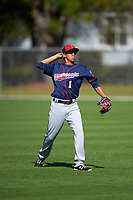 Minnesota Twins infielder Engelb Vielma (1) during a Spring Training practice on March 1, 2016 at Hammond Stadium in Fort Myers, Florida.  (Mike Janes/Four Seam Images)