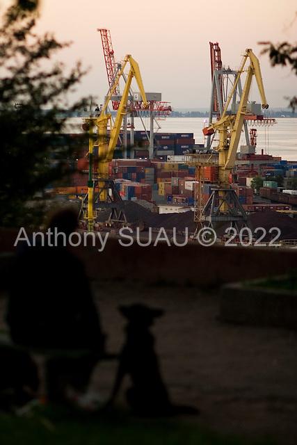 Odessa, Ukraine<br /> August 22, 2005 <br /> <br /> Odessa near the port..