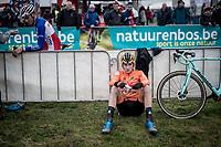 Tim Van Dijke (NED) post-race<br /> <br /> U23 Men's Race<br /> UCI cyclocross WorldCup - Koksijde (Belgium)<br /> <br /> ©kramon