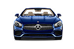 Car photography straight front view of a 2017 Mercedes Benz SL-Class SL450 2 Door Convertible Front View