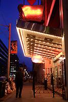 Toronto (ON) CANADA,  April , 2008-.Fran's Restaurant on College street, at night...