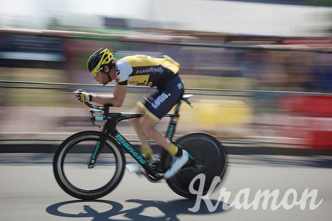 Laurens ten Dam (NLD/LottoNL-Jumbo) during the stage 1 prologue recon in Utrecht (13.8km)<br /> <br /> Tour de France 2015
