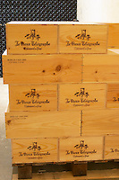 wooden cases dom du vieux telegraphe chateauneuf du pape rhone france