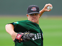 6 May 2007: Adam Blackley from a game between the Greenville Drive, Class A affiliate of the Boston Red Sox, and the Augusta GreenJackets at West End Field in Greenville, S.C. Photo by:  Tom Priddy/Four Seam Images