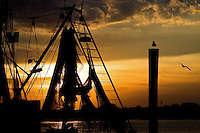 Sunset in the small shrimping town of Mayport, Florida.
