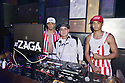 MIAMI, FL - JULY 09: Recording artist Aaron Dilaikian and Jonny Dilakian of JNA and DJ Zaga (C) pose for picture during Miami Swim week JNA after party single release event at Racket Wynwood on July 9, 2021 in Miami, Florida.  ( Photo by Johnny Louis / jlnphotography.com )