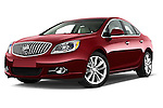 Stock pictures of low aggressive front three quarter view of 2017 Buick Verano Leather 4 Door Sedan Low Aggressive