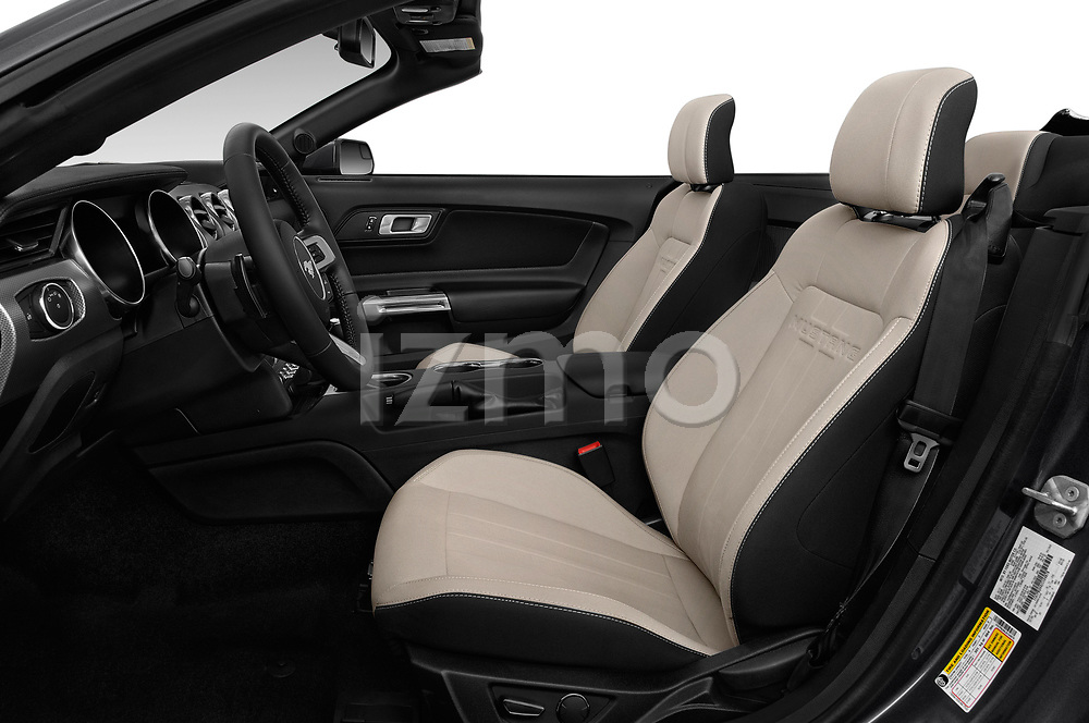 Front seat view of a 2019 Ford Mustang EcoBoost 2 Door Convertible front seat car photos