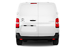 Straight rear view of 2016 Toyota Proace Comfort 4 Door Cargo Van Rear View  stock images