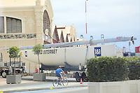 14.08.2014: Americas Cup Yachten am Hafen in Valencia