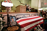 August 25, 2007. Kinston, NC.. A viewing of the coffin of Spc. Steven R. Jewell was held at Howard and Carter Funeral Home i Kinston, NC. Spc. Steven R. Jewell was killed in a helicopter crash near the Iraqi city of Fallujah on August 14, 2007.. Spc. Jewell's coffin and photograph... .