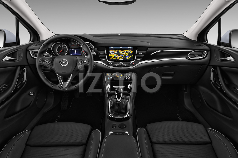 Stock photo of straight dashboard view of 2016 Opel Astra Innovation 5 Door Wagon Dashboard