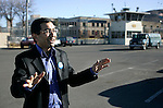 Vishnu Subramaniam, the chief of staff of the AFSCME Local 4041, speaks outside the Nevada State Prison in Carson City, Nev., on Wednesday, Jan. 4, 2012..Photo by Cathleen Allison