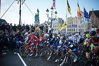 the start line of the 100th Ronde van Vlaanderen 2016