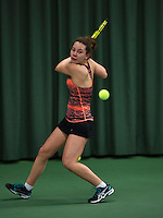 Rotterdam, The Netherlands, 07.03.2014. NOJK ,National Indoor Juniors Championships of 2014, Donnaroza Gouvernante (NED)<br /> Photo:Tennisimages/Henk Koster