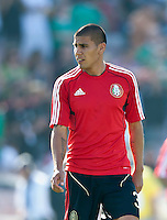 PASADENA, CA – June 25, 2011: Mexico player Carlos Salcido (3) before the Gold Cup Final match between USA and Mexico at the Rose Bowl in Pasadena, California. Final score USA 2 and Mexico 4.