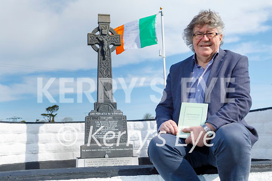 North Kerry poet Gabriel Fitzmaurice at the Gortagleanna monument in Knockanure on Saturday with his new book of poems Ryming History
