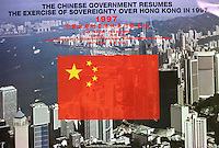 China Hong Kong reunification poster<br /> The Chinese Government resumes the exercise of sovereignty over Hong Kong in 1997<br /> One country two systems<br /> Hong Kong people administering Hong Kong a high degree of Autonomy