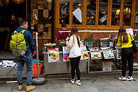 Yangshuo, China.  Customers Choosing Food at Sidewalk Fast-food Stand.