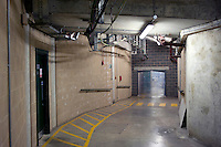 A tunnel under No1 Court at Wimbledon, The All England Lawn Tennis Club (AELTC), London....