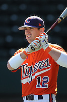 Outfielder Wilson Boyd (12) of the Clemson Tigers prior to a game against the Michigan State Spartans Saturday, Feb. 20, 2010, at Fluor Field at the West End in Greenville, S.C. Photo by: Tom Priddy/Four Seam Images