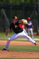 Miami Marlins pitcher Brian Ellington (83) during a minor league spring training game against the St. Louis Cardinals on March 31, 2015 at the Roger Dean Complex in Jupiter, Florida.  (Mike Janes/Four Seam Images)