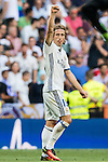 Luka Modric of Real Madrid celebrates during the La Liga match between Real Madrid and Osasuna at the Santiago Bernabeu Stadium on 10 September 2016 in Madrid, Spain. Photo by Diego Gonzalez Souto / Power Sport Images