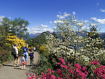 CHE, Schweiz, Tessin, Carona: Freizeit im Botanischen Park San Grato - Spaziergang | CHE, Switzerland, Ticino, Carona: horseback walking at Botanical Park San Grato