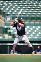 Atlanta Braves catcher Lucas Herbert (2) at bat during an Instructional League game against the Baltimore Orioles on September 25, 2017 at Ed Smith Stadium in Sarasota, Florida.  (Mike Janes/Four Seam Images)
