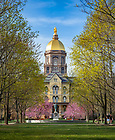 May 1, 2018; Main Building in Spring 2018 (Photo by Matt Cashore/University of Notre Dame)