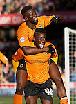 Wolverhampton Wanderers v Port Vale<br /> 1.3.2014<br /> Sky Bet League One<br /> Picture Shaun Flannery/Trevor Smith Photography<br /> Wolves Nouha Dicko celebrates his goal with team mate Bakary Sako.