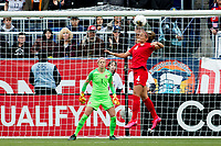 CARSON, CA - FEBRUARY 9: Shelina Zadorsky #4 of Canada during a game between Canada and USWNT at Dignity Health Sports Park on February 9, 2020 in Carson, California.