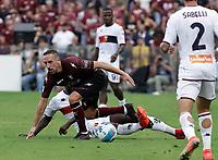 2nd October 2021; Arechi Stadium, Salerno, Italy; Serie A football, Salernitana versus Genoa : Frank Ribery of Salernitana keeps his balance and control
